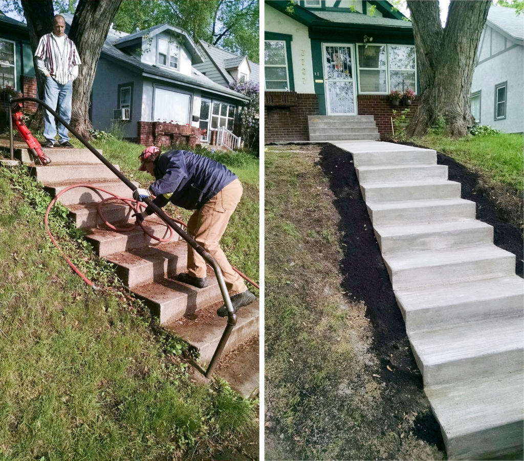 Poured Concrete Stairwell